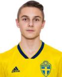 Pojklandslagsspelaren Albin Palmlöf satte sin första boll i nät i GIF Sundsvalls A-lag.