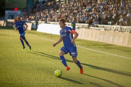 Linus Hallenius är enligt Fotbollsknalaen.se Allsvenskans tredje bästa spelare. Arkivfoto: Anders Thorsell, Sundsvallsbilder.com