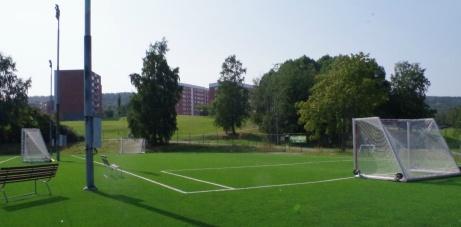 På Camp Mitthem finns också en mindre teknikplan. Foto: Pia Skogman, Lokalfotbollen.nu.