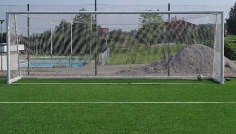 Bild tagen från straffpunkten med Nackstabadet i bakgrunden. Foto: Pia Skogman, Lokalfotbollen.nu.