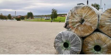 Så här såg det ut innan Nacksta grus omvandlades till Camp Mitthem. Foto: Heja Sundsvall.