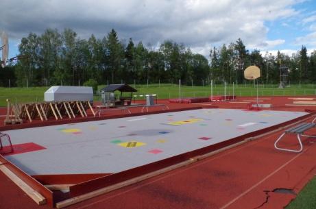 Det finns möjlighet att utöva fler sporter på Ånge IP.  Foto: Pia Skogman, Lokalfotbollen.nu.