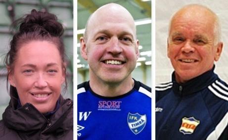 """Tränarduon """"Dotter & Far"""", Emma Westlund och Anders Westlund, fortsätter leda Kovlands damer i division 1. Även lagledaren Torbjörn Sandberg hänger med upp i ettan."""