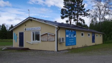 Holms SK:s klubbstuga med omklädningsrum. Foto: Pia Skogman, Lokalfotbollen.nu.