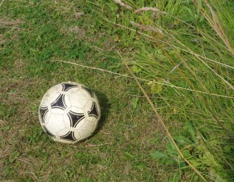 Lokalfotbollen hittade en lokal fotboll. Foto: Pia Skogman, Lokalfotbollen.nu.