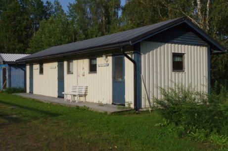 Omklädningsbyggnaden. Foto: Pia Skogman, Lokalfotbollen.nu.