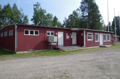 Till vänster när man kommit in på arenan ligger omklädningsrummen. Foto: Pia Skogman, Lokalfotbollen.nu.