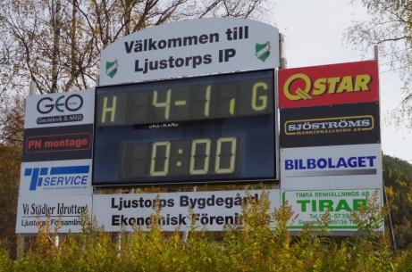 Matchur med sponsorer. Foto: Pia Skogman, Lokalfotbollen.nu.
