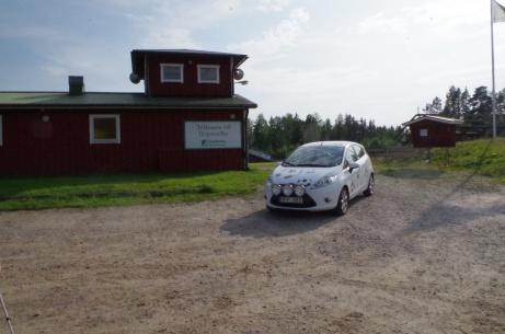 """Så var Lokalfotbollens """"Fårrd"""" framme på Sörforsvallen, hemmaplan för Lucksta IF. Foto: Pia Skogman, Lokalfotbollen.nu."""