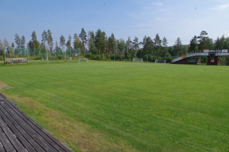 Utsikt från ovanstående läktare. Foto: Pia Skogman, Lokalfotbollen.nu.