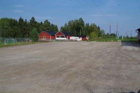 Sörforsvallens parkering. Foto: Pia Skogman, Lokalfotbollen.nu.