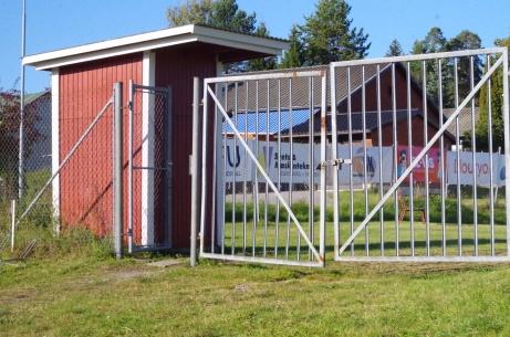 Biljettholken. Foto: Pia Skogman, Lokalfotbollen.nu.