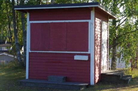 Det finns även en kiosk på arenan. Foto: Pia Skogman, Lokalfotbollen.nu.