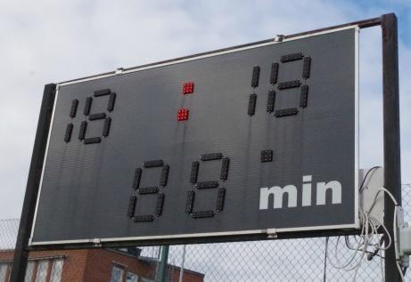 Digitalt matchur mot Enhörningsvägen. Foto: Pia Skogman, Lokalfotbollen.nu.