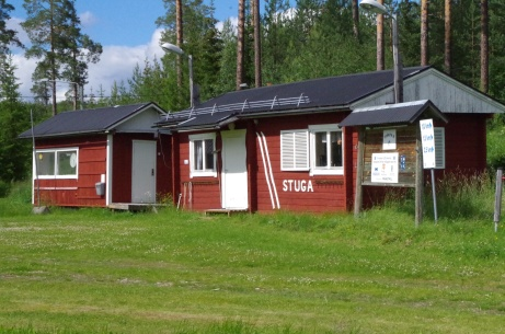 Skidsektionens lokal. Foto: Pia Skogman, Lokalfotbollen.nu.