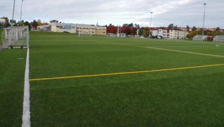 Det är många linjer att hålla reda på. Foto: Pia Skogman, Lokalfotbollen.nu.