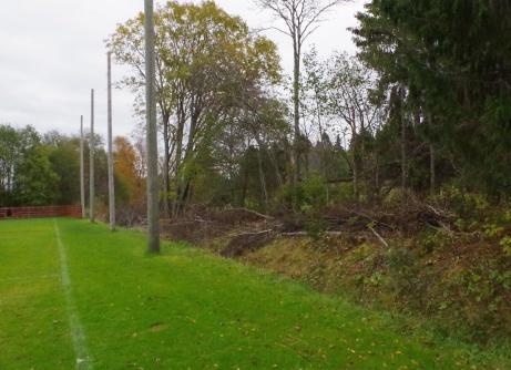 Det gäller att hålla skotten på mål, annars kan det bli bolletande i träsket. Foto: Pia Skogman, Lokalfotbollen.nu.
