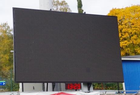 Händer inte mycket på tavlan när det inte är match. Foto: Pia Skogman, Lokalfotbollen.nu.