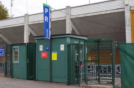 Västra entrén, nedre. Foto: Pia Skogman, Lokalfotbollen.nu.
