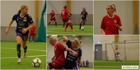 Även kvällens andra match mellan Kovland och SDFF:s F19-lag slutade mållös men där var faktiskt SDFF:s unga tjejer hade mer fart i benen och låg närmast en trea. Bl a missade man sin handikappstraff. Foto: Pia Skogman, Lokalfotbollen.nu.