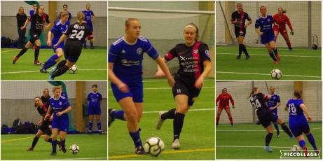 I premiären i Lucia Cupen spelade arrangörsklubben IFK Timrå 0-0 mot Heffnersklubban där hemmalaget räddades av målvakten Alicia Larsson. Foto: Pia Skogman, Lokalfotbollen.nu.