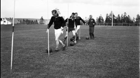 Stockviks IF i träning på Kustängen någon gång under 1960-talet. Foto: Morrlandsbild.