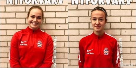 Celina Berglund från Selånger och Miranda Padellaro från Fränsta är Stödes första nyförvärv inför den kommande säsongen. Foto: Stöde IF.