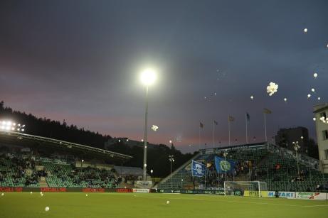 """Tyvärr fick inte de 4 950 åskådarna på NP3 Arena se några mål i """"nattmatchen"""" mellan GIF Sundsvall och AFC Eskilstuna 2019. Foto: Anders Thorsell, Sundsvallsbilder.com."""