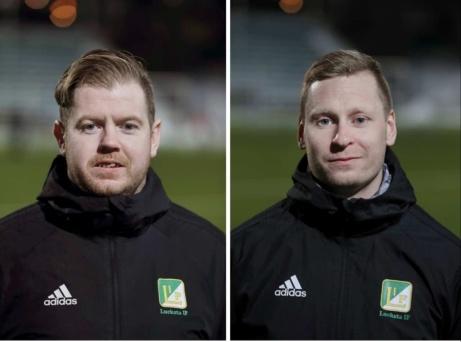 Luckstas tränarduo Paul Thompson och Jimmie Nordberg (spelande) får fortsatt förtroende och ska nu försöka föra klubben tillbaka till trean.