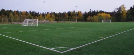 Vi börjar vår fotovandring i högervarv med start från hörnet vid entrén. Foto: Pia Skogman, Lokalfotbollen.nu.
