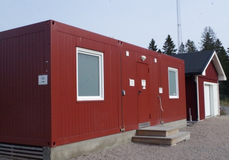 Bortalagets omklädningsrum som används till både A- och B-plan. Foto: Pia Skogman, Lokalfotbollen.nu.