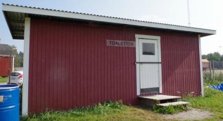 Hemlighuset vid entrén. Foto: Pia Skogman, Lokalfotbollen.nu.