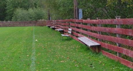Läktarsektionen och VIP-stol på bortre lång. Foto: Pia Skogman, Lokalfotbollen.nu.