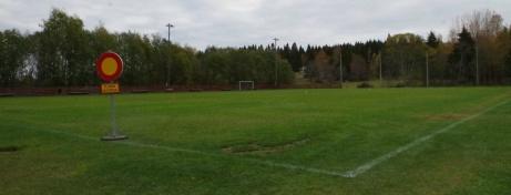 Säsongen över och planen avstängd när vi var där och fotade. Foto: Pia Skogman, Lokalfotbollen.nu.