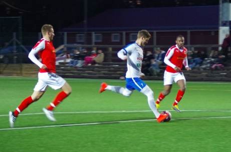 Oskar Nordlund brassar på. Idag gör han en spännande träning han med GIF Sundsvall. Foto: Pia Skogman, Lokalfotbollen.nu.