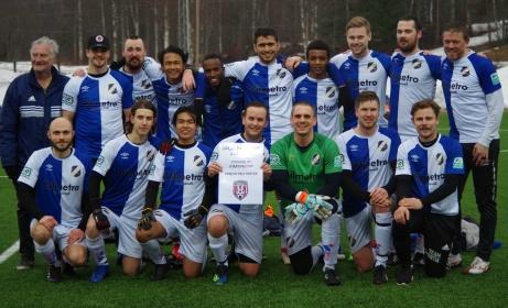 2017 vann man division 6, ifjol Hälsingefemman och 2019 tog man hem premiären av Söråker Cup. Foto: Pia Skogman, Lokalfotbollen.nu.
