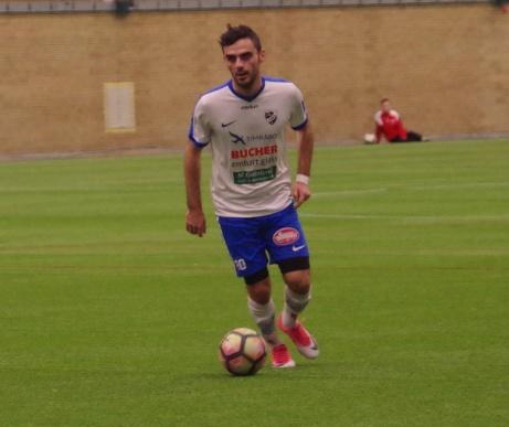 Granit Buzuku lämnar IFK Timrå och följer med tränaren Mattias Nylund och Amaro Bahtijar till norska Steinkier FK. Foto: Pia Skogman, Lokalfotbollen.nu.