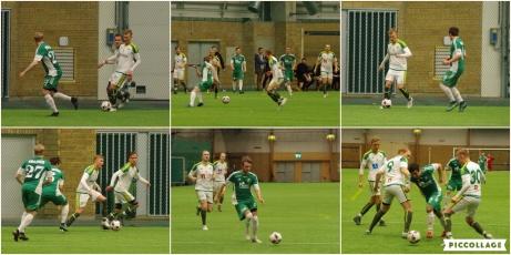 Bildkollage från DM-matchen mellan Östavall-Lucksta. Foto: Pia Skogman, Lokalfotbollen.nu.