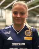 Nyförvärvet Linnéa Strand var först ut i SDFF att sätta bollen i nät.