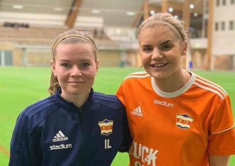 Isabelle Lindgren gjorde matchens enda mål och Emelie Bergh höll nollan när Kovland vann mot Heffnersklubban, Foto; KIF dam