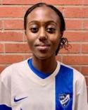 14-åriga jättetalangen Carine Rugumaho satte vaket Timrås ledningsmål redan i den första minuten.