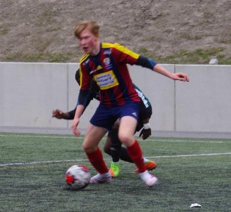 Vidar Hagevi in action. Foto: Pia Skogman. Lokalfotbollen.nu.