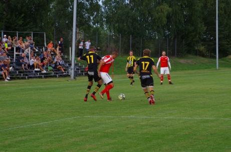 Svartvik tog emot Kuben i ett division 3-derby uppe på Hemmanet (Svartviks IP) den 3 augusti 2018. Matchen slutade (givetvis) i hemmafavör. Foto: Pia Skogman, Lokalfotbollen.nu.