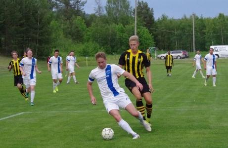 Torpshammars Stefan Lindman in action hemma på IP mot Kuben den 17 juni 2019. i Medelpadsallsvenskan..  Foto: Pia Skogman, Lokalfotbollen.nu.