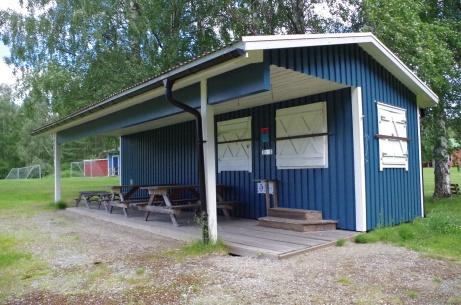Serveringen i närbild. Foto: Pia Skogman, Lokalfotbollen.nu.