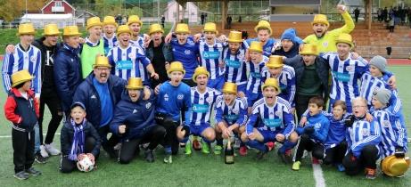 Kramfors-Alliansen tog med det här laget hem div 3 Mellersta Norrland 2017. Foto: Angelica Åhlin.