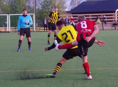 Bild 23: Fr v. Per Backlin, Eddie Åman, Gafari Yasin och Joar Steen. Foto: Pia Skogman, Lokalfotbollen.nu.