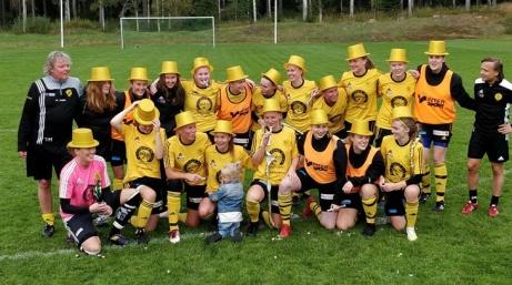 Stensätra IF, seriesegrare div 2 Södra Norrland, damer 2019.. Foto: Stensätra IF:s hemsida.
