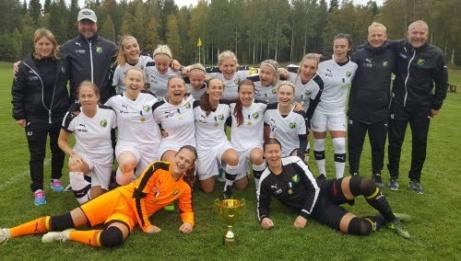 Hille IF, seriesegrare div 2 Södra Norrland, damer 2018. Foto: Hille IF:s hemsida.