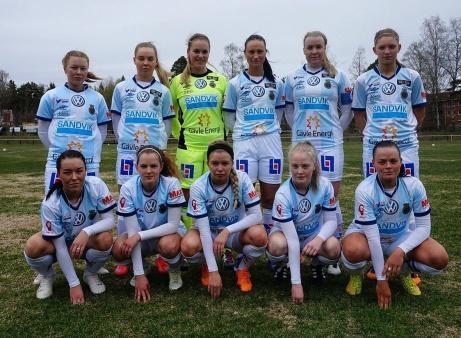 Gefle IF, seriesegrare div 2 Södra Norrland, damer 2017. Foto: Gefle IF:s hemsida.